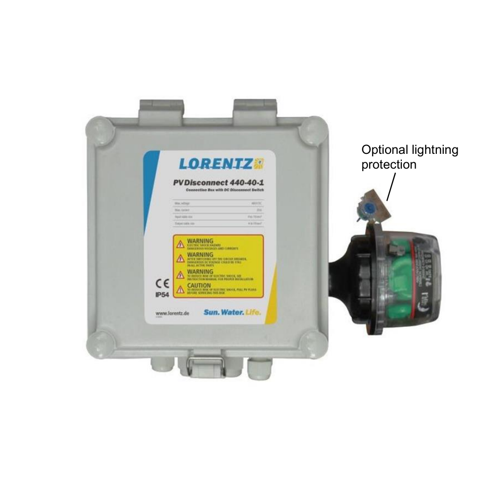 Pv Disconnect 440 40 1 Lorentz Pumps Solar Wiring Diagram